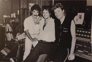 Daryl Hall John Oates and Neil Kernon 1981 Electric lady NY